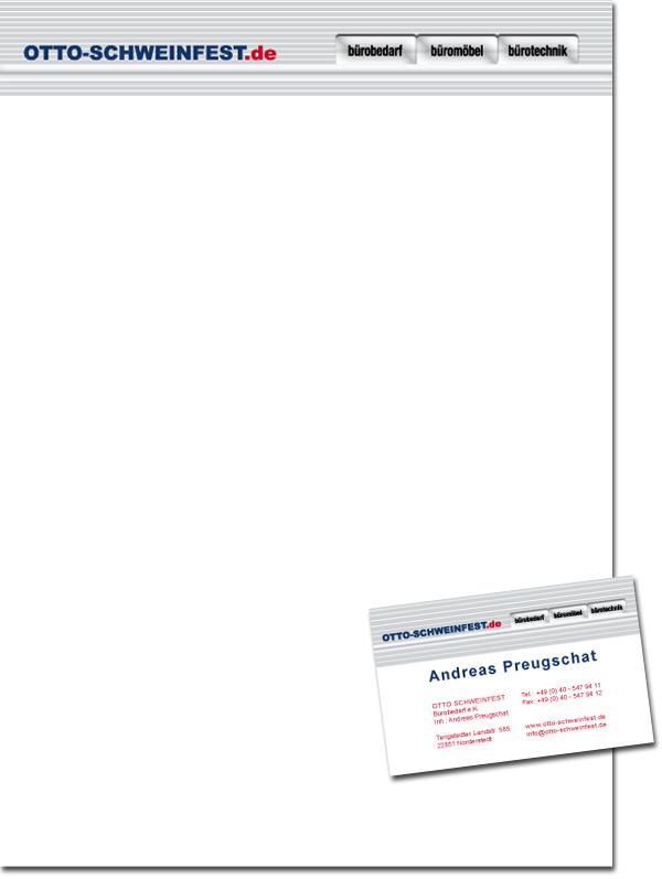 Bürobedarf Geschäftsausstattung Visitenkarten Briefbogen