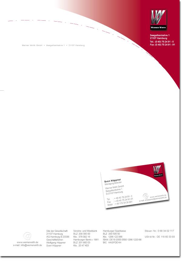 Geschäftspapiere Corporate Design Briefbogen